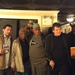 Al Profit Ike Atkinson Liddy Jones and Gaspar Vetrano at the Museum of the American Gangsters screening of The Frank Matthews Story