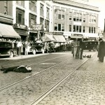 full size clarence shaffer and Alfred Brady lay dead in Bangor Maine